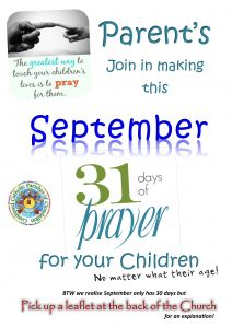 Sept Parents 31 days of Prayer Poster CCPC