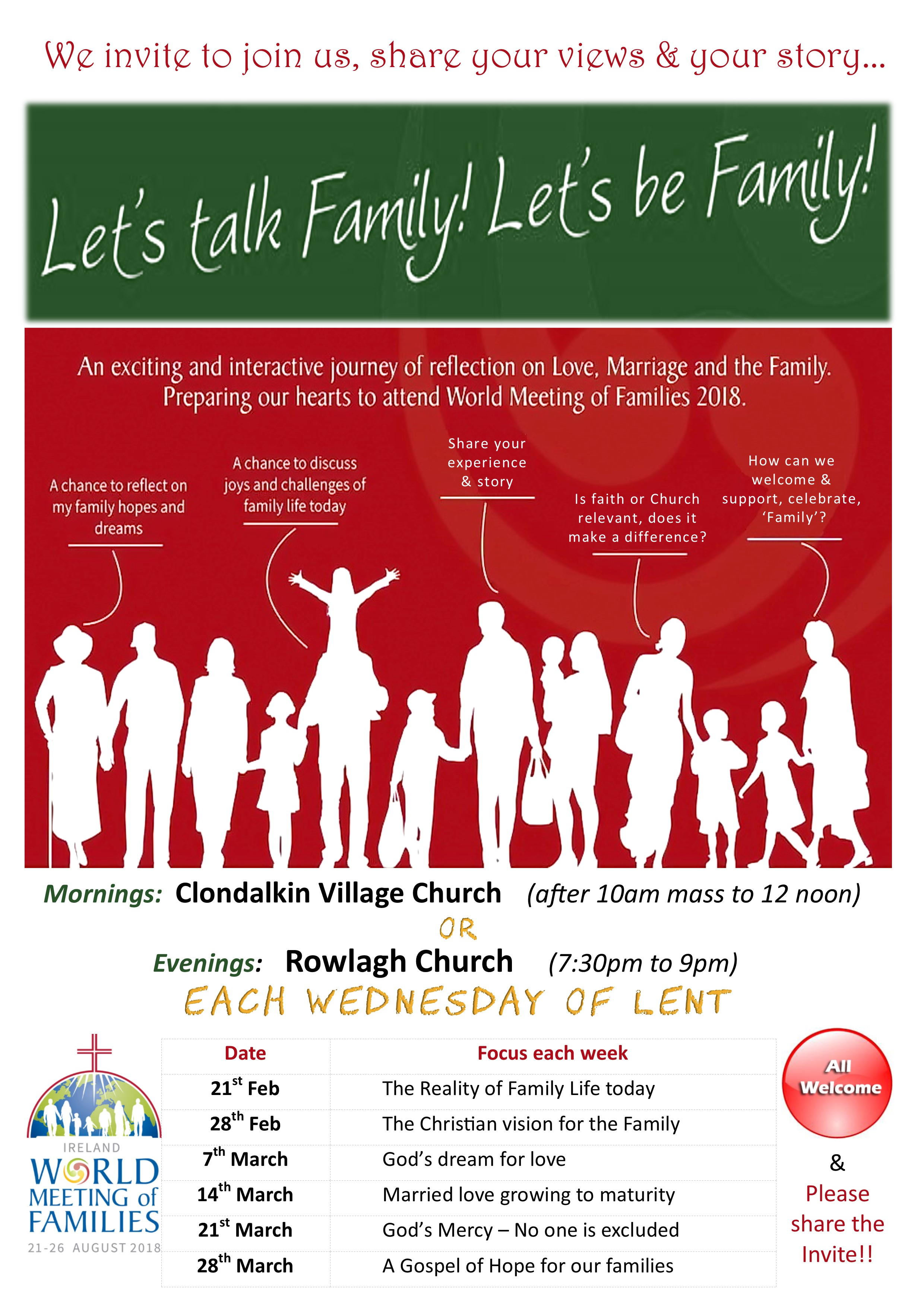 Let's Talk, Lets be Family | Clondalkin Village Parish